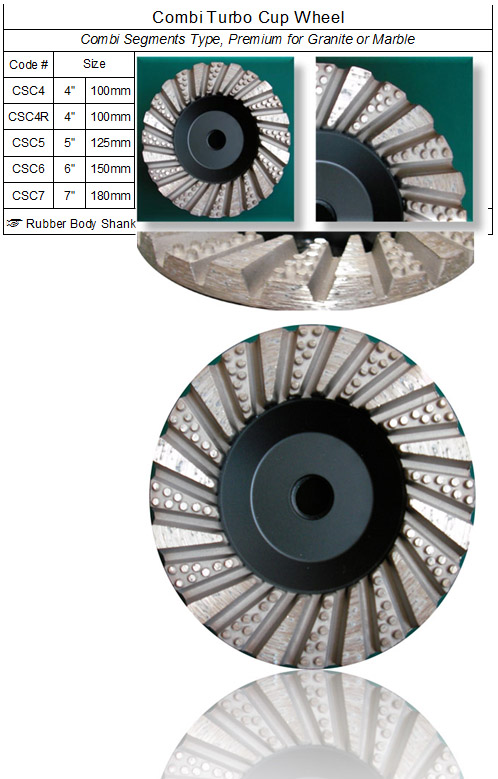 Combi Segments Turbo Grinding Cup Wheel