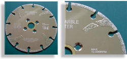 Electroplated Marble Blade Key Slot Type