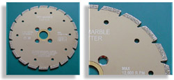 Electroplated Marble Blade V Slot Type